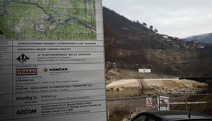 Gradnju hidroelektrane Vranduk trebao bi uskoro preuzeti Euroasfalt