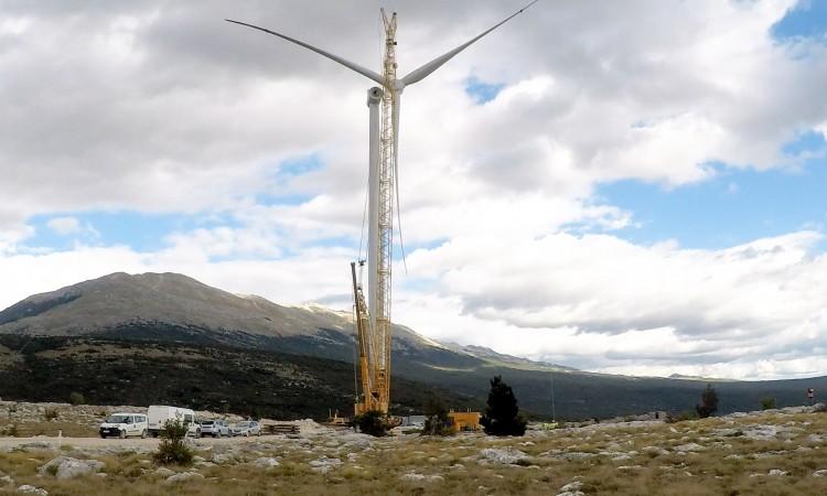 Završena montaža prvog vjetroagregata VE Podveležje